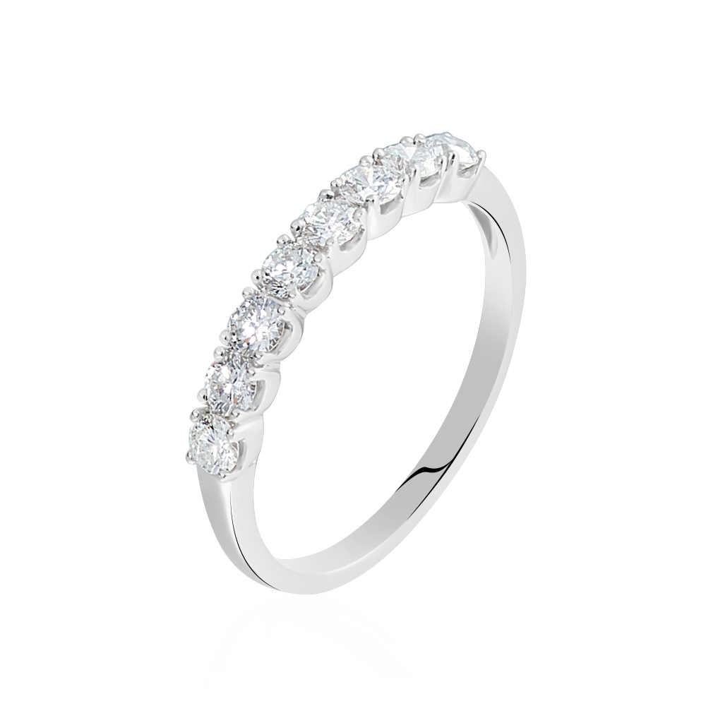 Alliance Eloisa Or Blanc Diamant Synthetique